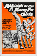 "Movie Posters:Action, Attack of the Kung Fu Girls (Golden Harvest, 1973). One Sheet (27""X 41"") & Photos (8) (8"" X 10""). Action.. ... (Total: 9 Items)"