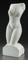 Fine Art - Sculpture, American, PABLO SOLOMON (American, b. 1947). Untitled (nude), 2004.Limestone. 23-1/2 inches (59.7 cm) high. Signed and dated on b...