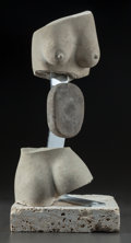 Fine Art - Sculpture, American, PABLO SOLOMON (American, b. 1947). Abstract Nude, 2005.Limestone. 18-1/2 inches (47.0 cm) high. Signed and dated on the...