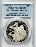 Modern Issues, 2010-P $1 Boy Scouts PR69 Deep Cameo PCGS. PCGS Population(4706/1619). NGC Census: (4769/3156). Numismedia Wsl. Price for...