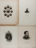 Art:Illustration Art - Mainstream, [Civil War]. Group of Four Union General Portraits. Ca. 1860's.Engravings from photos. Mild to moderate toning. Generals...