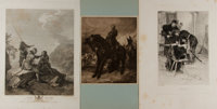 [Etchings]. Group of Three Original Prints, ca. 1788. Largest measures 11.75 x 15.75 inches. Mild toning. Moderate fo