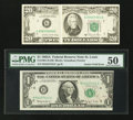 Fr. 1901-H $1 1963A Federal Reserve Note. PMG About Uncirculated 50 Fr. 2074-G $20 1981A Federal Reserve Note