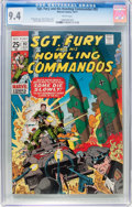 Bronze Age (1970-1979):War, Sgt. Fury and His Howling Commandos #92 (Marvel, 1971) CGC NM 9.4 White pages....