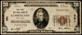 National Bank Notes:Maryland, Cumberland, MD - $20 1929 Ty. 1 The First NB Ch. # 381. ...
