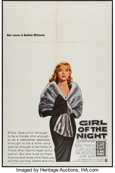 216c1fbcce5ac Girl of the Night (Warner Brothers, 1960). One Sheet (27