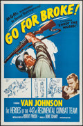 """Movie Posters:War, Go for Broke! (MGM, R-1962). One Sheet (27"""" X 41""""), Lobby Cards (6)(11"""" X 14""""), and Photos (2) (8"""" X 10""""). War.. ... (Total: 9 Items)"""