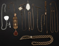 Timepieces:Watch Chains & Fobs, Seven Watch Chain & Fobs, One Necklace & One Fob. ...(Total: 9 Items)