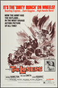 "Movie Posters:Exploitation, The Losers (Fanfare, 1970). One Sheet (27"" X 41"") & Lobby CardSet of 8 (11"" X 14""). Exploitation.. ... (Total: 9 Items)"