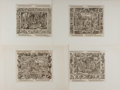 Books:Prints & Leaves, Virgil Solis. Group of Four Woodcut Prints Taken from The Holy Bible, 1562 Edition. Measure 6.5 x 9 inches. Matt...