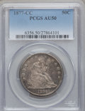 Seated Half Dollars: , 1877-CC 50C AU50 PCGS. PCGS Population (11/173). NGC Census:(4/162). Mintage: 1,420,000. Numismedia Wsl. Price for problem...