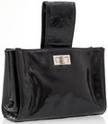 Luxury Accessories:Bags, Chanel Black Patent Leather Tote Bag with Silver Hardware. ...