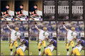 Football Collectibles:Photos, Brett Favre Signed Photographs Lot of 3 - TD Record Image....