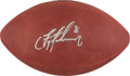 Football Collectibles:Balls, Troy Aikman Signed NFL Leather Football....
