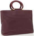 Luxury Accessories:Bags, Celine Burgundy Leather Tote Bag. ...