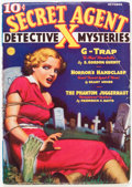Pulps:Hero, Secret Agent X - October '36 (Ace, 1936) Condition: FN-....
