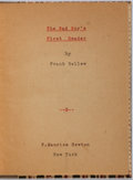 Books:Americana & American History, [Americana]. Frank Bellew. The Bad Boy's First Reader. NewYork: Newton, ca. 1880's. Small 16mo. 44 pages. Modern qu...