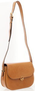Luxury Accessories:Bags, Celine Light Brown Leather Shoulder Bag with Gold Hardware. ...