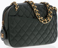Luxury Accessories:Bags, Chanel Forest Green Quilted Lambskin Leather Shoulder Bag with GoldHardware . ...