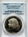 Modern Issues: , 1995-P $1 Special Olympics Silver Dollar PR69 Deep Cameo PCGS. PCGSPopulation (1288/52). NGC Census: (1252/41). Numismedi...