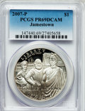 Modern Issues, 2007-P $1 Jamestown PR69 Deep Cameo PCGS. PCGS Population(3432/837). NGC Census: (5057/5523). Numismedia Wsl. Price for p...