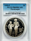 Modern Issues: , 1995-P $1 Olympic/Paralympics Silver Dollar PR69 Deep Cameo PCGS.PCGS Population (1955/71). NGC Census: (1404/40). Numism...