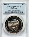 Modern Issues: , 1997-P $1 Law Enforcement Silver Dollar PR69 Deep Cameo PCGS. PCGSPopulation (1377/107). NGC Census: (1344/63). Numismedi...