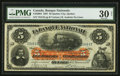 Canadian Currency: , Quebec City, PQ- La Banque Nationale $5 Jan. 2, 1897 Ch. #510-20-04. ...