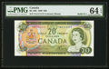 Canadian Currency: , BC-50b $20 1969 with Solid Serial Number YA1111111. ...