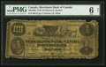 Canadian Currency: , Montreal, PQ- Merchants Bank of Canada $4 May 2, 1870 Ch. #460-10-06. ...