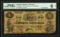 Canadian Currency: , Quebec City, PQ- La Banque Nationale $1 May 25, 1860 Ch. # 510-10-04-04. ...