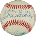 Autographs:Baseballs, 1980's 500 Home Run Club Signed Baseball, PSA/DNA NM-MT 8....