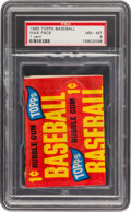 Baseball Cards:Unopened Packs/Display Boxes, 1965 Topps Baseball 1-Cent Wax Pack PSA NM-MT 8. ...