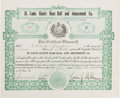 Autographs:Others, 1920 St. Louis Giants Negro League Stock Certificate....