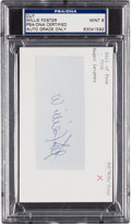 Autographs:Others, 1970's Willie Foster Signed Cut Signature, PSA/DNA Mint 9....
