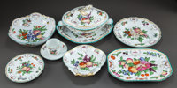 A ONE HUNDRED EIGHTY-NINE PIECE MOTTAHEDEH PORCELAIN DUKE OF GLOUCESTER PATTERN PARTIAL DIN