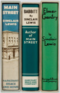 Books:Literature 1900-up, Sinclair Lewis. Group of Three. Facsimile Editions. First EditionLibrary. Includes Elmer Gantry, Babbitt, and Main St...(Total: 3 Items)