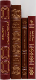 Books:Science & Technology, [Science]. Group of Four. Easton Press and The Classics of Science Library. Includes works by Isaac Newton and Albert ... (Total: 4 Items)