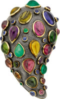 Estate Jewelry:Brooches - Pins, Marilyn Cooperman Multi-Stone, Gold, Silver Brooch. ...