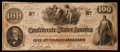 Confederate Notes:1862 Issues, San Antonio Issued T41 $100 1862 PF-59 Cr. 326A.. ...