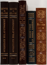 [American History]. Group of Five. Easton Press. Includes Lewis and Clark's Journals of the Expedition in