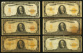 Large Size:Gold Certificates, $10 Gold Certificates Ten Examples Very Good or Better.. ... (Total: 10 notes)
