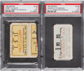 Boxing Collectibles:Memorabilia, 1900's Boxing Stubs Lot of 2....