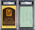 Autographs:Others, 1970's Satchel Paige & Willie Wells Signed Autographs Lot....