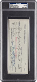 Football Collectibles:Others, 1959 Vince Lombardi Signed Check, PSA Mint 9 - Representing First Season in Green Bay....