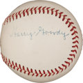 "Autographs:Baseballs, Circa 1950 Hank ""Harry"" Gowdy Single Signed Baseball...."
