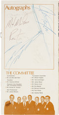 Football Collectibles:Programs, 1970's Lombardi Memorial Golf Classic Multi Signed Program - Signed by Mantle, Taylor, McGee, Etc....