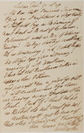 Autographs:Non-American, Arthur Wellesley, Duke of Wellington, Autographed Letter Signed....