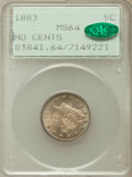Liberty Nickels: , 1883 5C No Cents MS64 PCGS. CAC. PCGS Population (3166/1759). NGCCensus: (2250/2380). Mintage: 5,479,519. Numismedia Wsl. ...