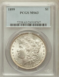 Morgan Dollars: , 1899 $1 MS63 PCGS. PCGS Population (3573/5024). NGC Census:(2595/3497). Mintage: 330,846. Numismedia Wsl. Price for proble...